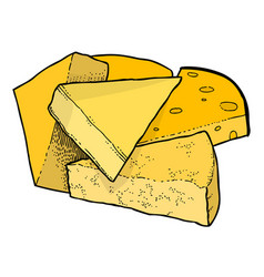 Cartoon image of cheese vector