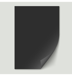 Black paper sheet vector