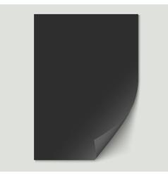 Black paper sheet vector image