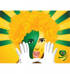 Crowd goes wild brazil vector