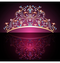 Crown tiara womens gold vector