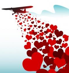 love plane vector image