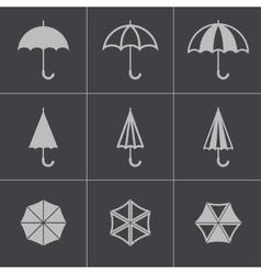 Black umbrella icons set vector