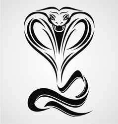 Cobra Snake Tribal vector image