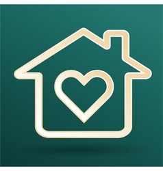 Home heart love vector