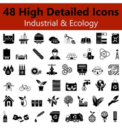 Industrial and ecology smooth icons vector