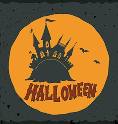 Halloween with a fairytale ghost castle vector