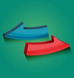Arrows modern design icon style vector