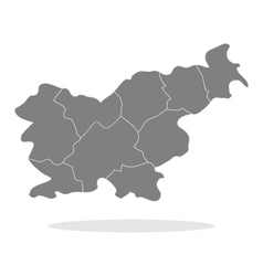 Map slovenia vector