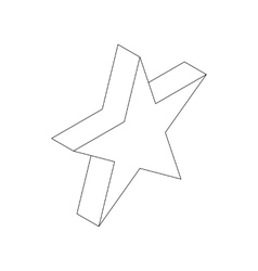 Star icon isometric 3d style vector