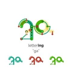 Alphabet letter font logo business icon vector