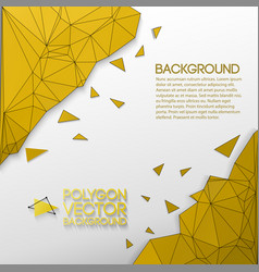 Abstract background with golden polygons vector