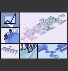 abstract business set vector image vector image