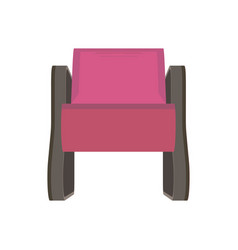 armchair icon furniture flat isolated chair style vector image vector image