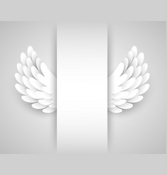 artificial white paper wings background vector image