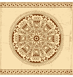 Beautiful Mexican ethnic ornament vector image