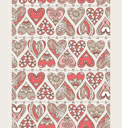 beige background with red decorative valentine vector image