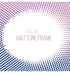 Color gradient dot halftone background vector
