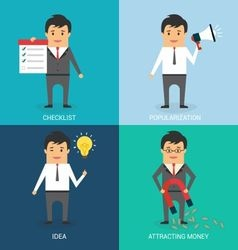 Commercial Stages of Business Character vector image