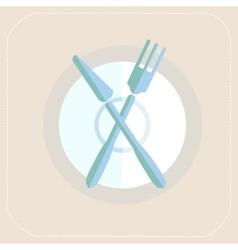 Cutlery kitchen flat icon vector