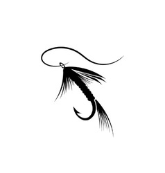 Fly fishing lure vector