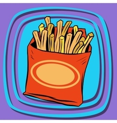 Fries fast food vector image vector image