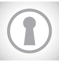 Grey keyhole sign icon vector image vector image