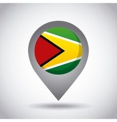 guyana flag pin vector image