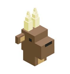 Head bull modular animal plastic lego toy blocks vector