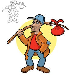 Hobo Cartoon vector image vector image