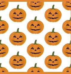 Jack-o-lantern pumpkin pattern vector