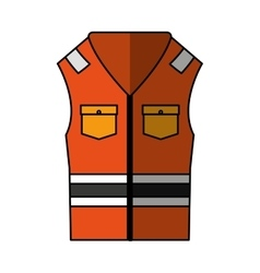 Jacket safety isolated icon vector