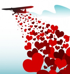 love plane vector image
