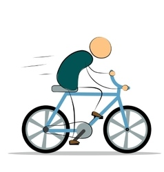 Man riding a bike vector image