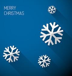 Modern blue christmas card with flat design vector