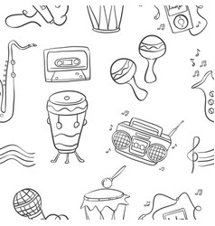 music doodle style hand draw art vector image