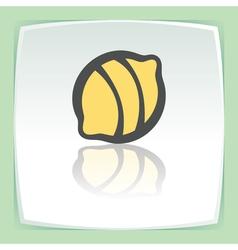 outline lemon fruit icon Modern infographic logo vector image