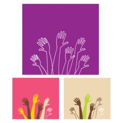 party hands vector image vector image