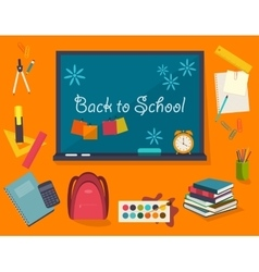 Poster from the school and education icons vector