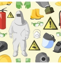Protective clothing and equipment pattern vector image vector image