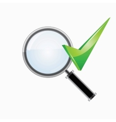 Search and checkmark vector image