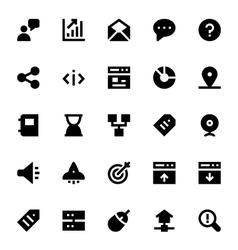 SEO Web Optimization Icons 3 vector image vector image