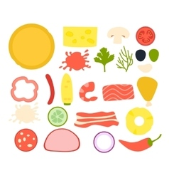 Set ingredients for pizza vector image vector image