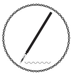 Silhouette calligraphic pen vector