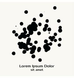 Splatter Black Ink Dot Background vector image vector image
