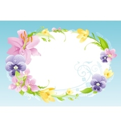 Spring blue background Easter Mothers day vector image vector image