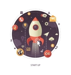Start up flat design business infographics vector
