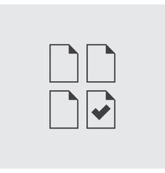 Tick icon vector image vector image