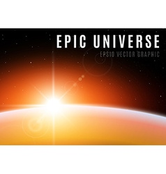 Universe sunrise vector image vector image