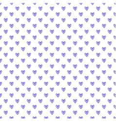 watercolor seamless pattern of purple hearts vector image